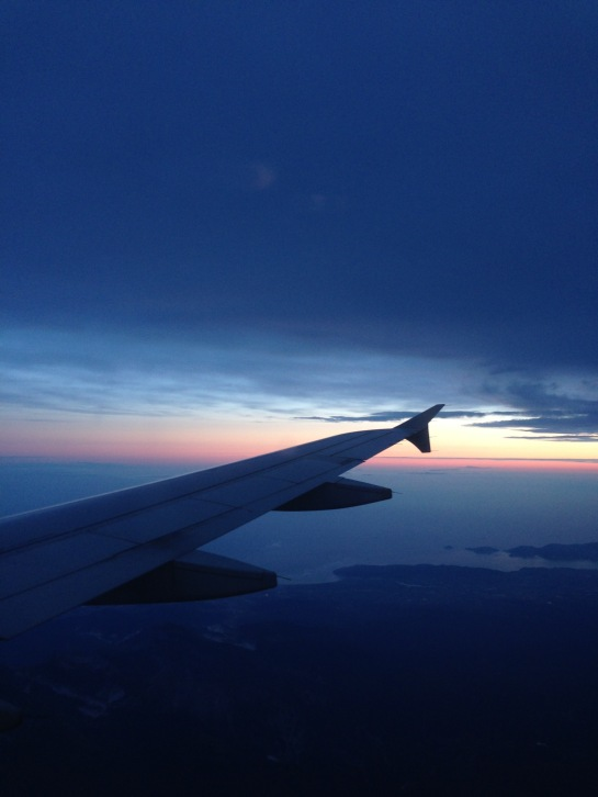 sky_airplane_wing_sunset_ciel